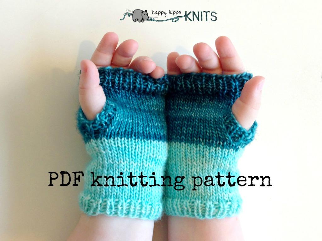 PDF knitting pattern – Lila Children\'s Fingerless Gloves – Happy ...
